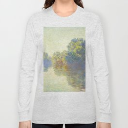 The Seine at Giverny Claude Monet 1897 Impressionist Oil Painting Nature Trees Lake Landscape Long Sleeve T-shirt