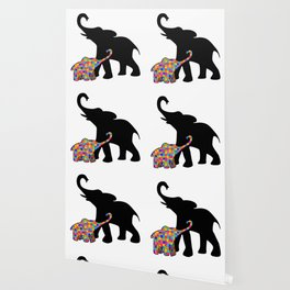 Elephant Autism Awareness Support Wallpaper