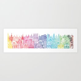 Belgium Towers  Art Print