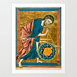 God the Geometer Art Print
