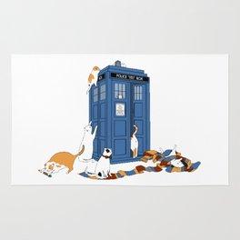 Doctor Who Tardis Cats Rug
