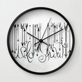 Barcode Wild Spirit B&W Wall Clock