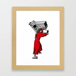 jesuscrisis Framed Art Print