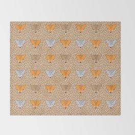 Shaggy faces Throw Blanket