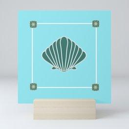 Scallop Shell design Mini Art Print