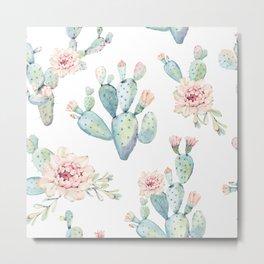 Cactus Spring Metal Print