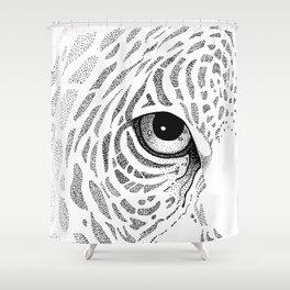 Jaguar Face Shower Curtain