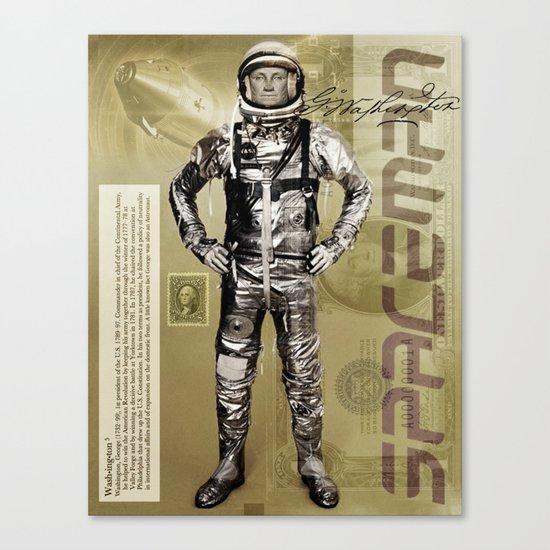 George Washington - Spaceman  Canvas Print