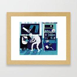 Ghost Grandad Framed Art Print