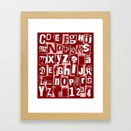Ransom Letters Framed Art Print