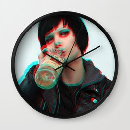 Crystal Castles - Alice's Bottle Wall Clock