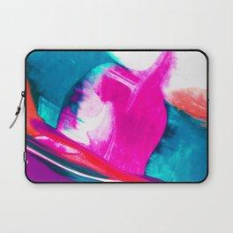 Abstract Acrylic Paint Pattern Texture #3 - Pink, Orange, Blue Green Laptop Sleeve