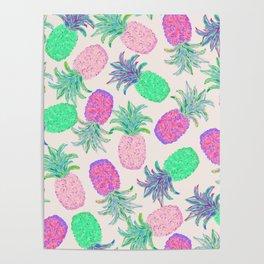 Pineapple Pandemonium Pink Punch Poster