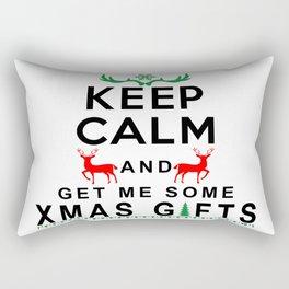 Keep Calm & Get Me Some Christmas Gifts Rectangular Pillow
