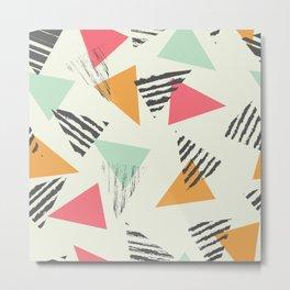 Geometric Mint Pattern Design 015 Metal Print