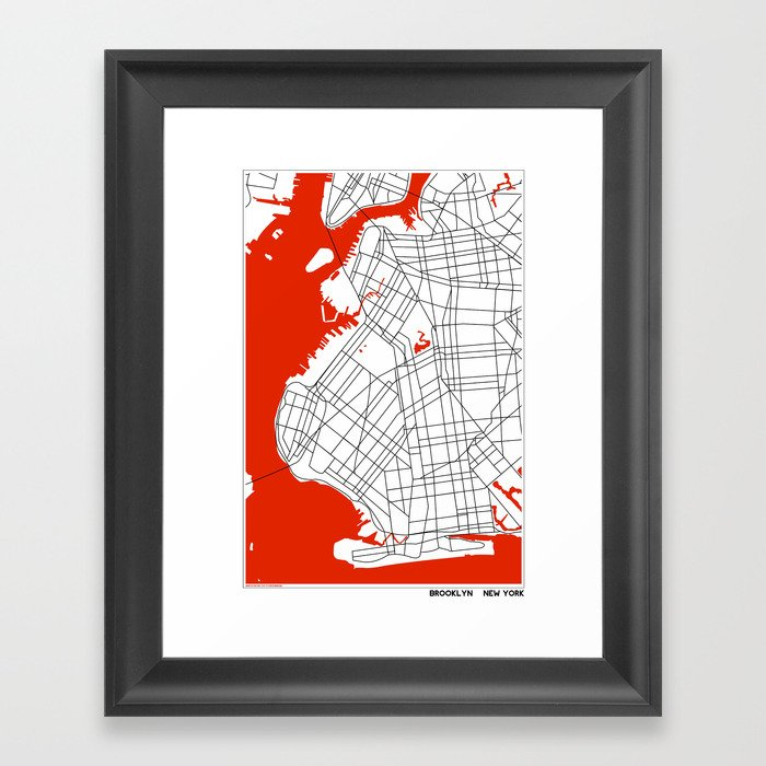 Brooklyn New York Framed Art Print