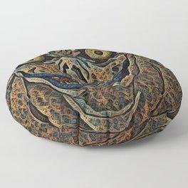 Note Ryuk Artistic Illustration Fractal Loop Style Floor Pillow