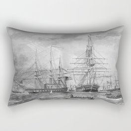 U.S. Naval Fleet During The Civil War Rectangular Pillow