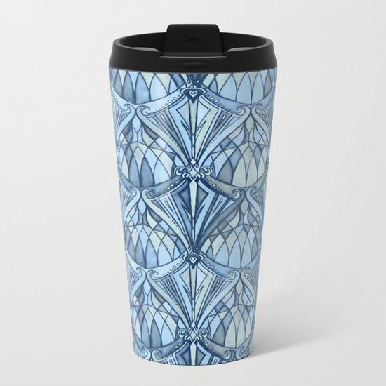 View From a Blue Window Metal Travel Mug