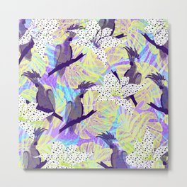 Tropical birds in the jungle Metal Print