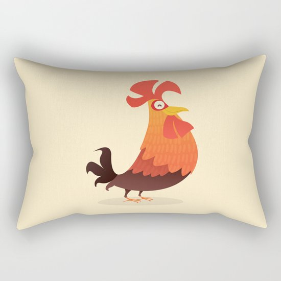 It's Time, Rooster! Rectangular Pillow