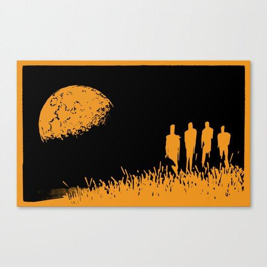 """New Moon"" by Justin Hopkins (Black Version) Canvas Print"