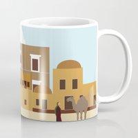 arab Mugs featuring Arab city by Design4u Studio