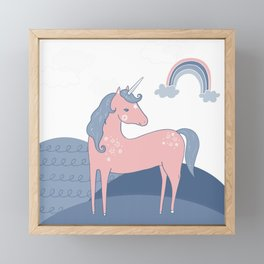Unicorn hills Framed Mini Art Print