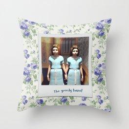 The greedy twins! Throw Pillow