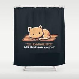 Not a Regular Domestic Cat Shower Curtain