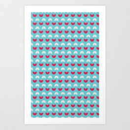 Abstract / Organic / Candy surface pattern Art Print