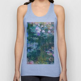 water lilies : Monet Unisex Tank Top