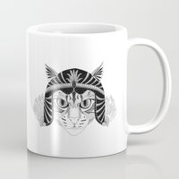 simba Mugs featuring Simba, the fighter by Wondering Wagon