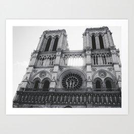 Notre Dame (Ouest) Art Print