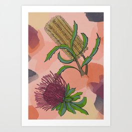 Australian Native Flowers  Art Print