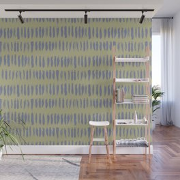 Mellow Purple on Earthy Green Parable to 2020 Color of the Year Back to Nature Grunge Vertical Dash Wall Mural