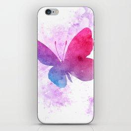 Watercolor butterflies iPhone Skin
