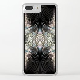 Floral Curtains Clear iPhone Case