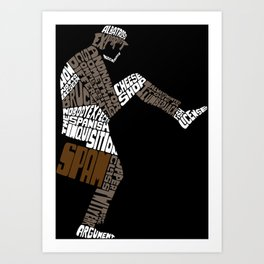 Briefcase Full of Spam Art Print