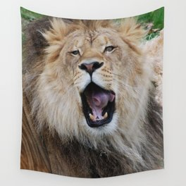 Lion Yawn Wall Tapestry