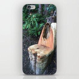 Kubota Garden - carved wood chair iPhone Skin