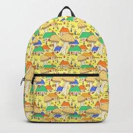 Mushroom village Backpack