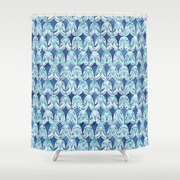 PARAKEET ON REPEAT Shower Curtain