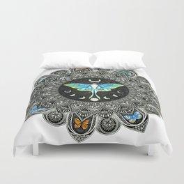 Lunar Moth Mandala Duvet Cover