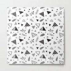 Organic Triangles Metal Print