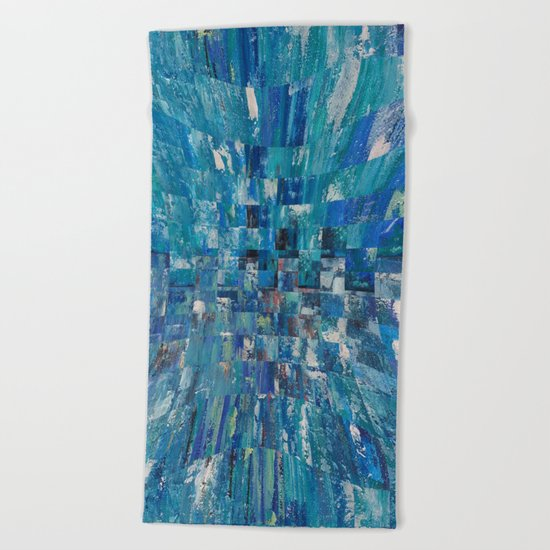 Abstract blue pattern 5 Beach Towel