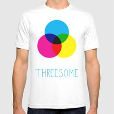 Threesome MEDIUM Mens Fitted Tee White