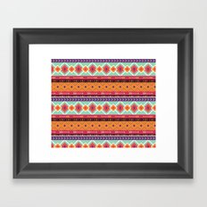 Boho ethnic tribal style pattern Framed Art Print