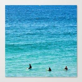 Surfing Trio Canvas Print