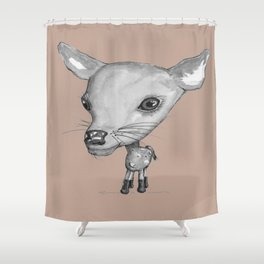 NORDIC ANIMAL - DEDE THE DEER  / ORIGINAL DANISH DESIGN bykazandholly  Shower Curtain